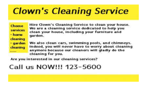 Cleaning services, Aviod keywords stuffing
