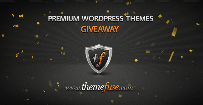 Giveaway Premuim wordpress Themes From Themefuse
