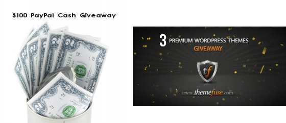Cash and themes giveaway