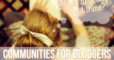 bloggers communities