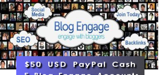 $50 USD Cash and Blog Engage Giveaway
