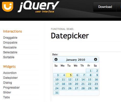 jQuery Datepicker Widget