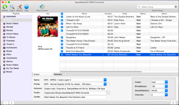 Convert iTunes DRM Protected Music To MP3 on Mac
