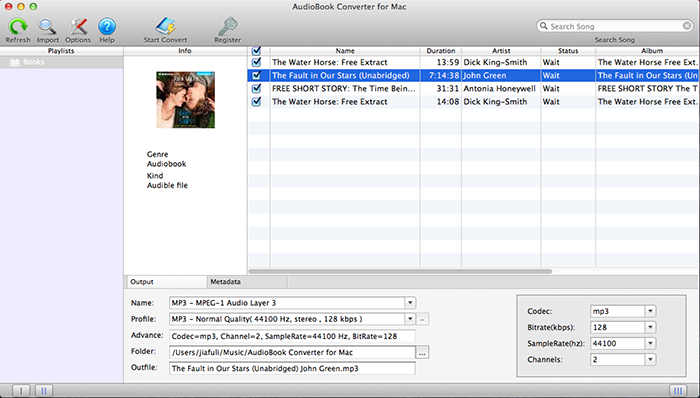 Convert Audible audiobooks to MP3 on Mac OS X