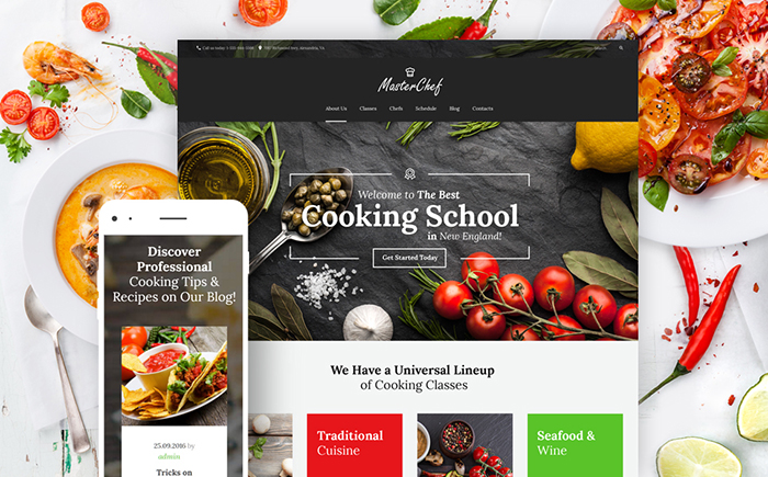 Restaurant, Food and Drinks WordPress Themes