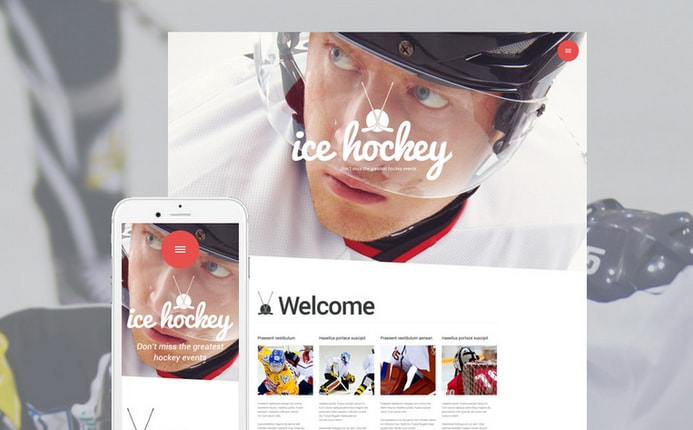 Ice Hockey - Sport Blog WordPress Theme