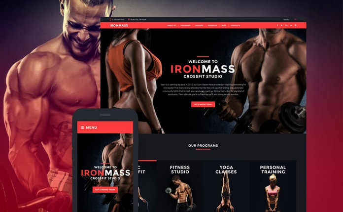 IronMass - Sports WordPress theme