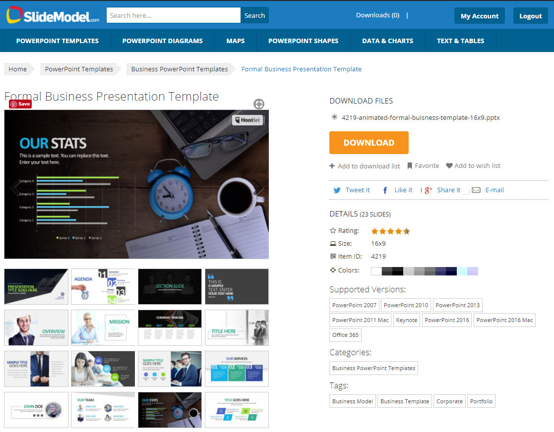 slidemodel review best presentation tool for business professionals