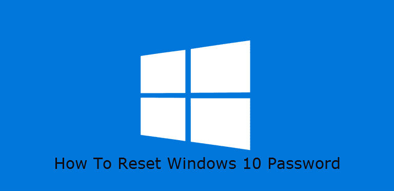 How to reset windows 10 password